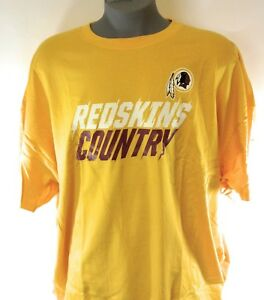 NEW-Mens-MAJESTIC-Washington-Redskins-Country-Gold-NFL-Football-Logo-T-Shirt