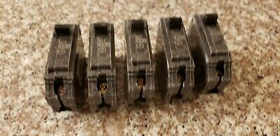 GE THQL1115 15A 1P 120V Plug In Circuit Breaker Used Lot of 5