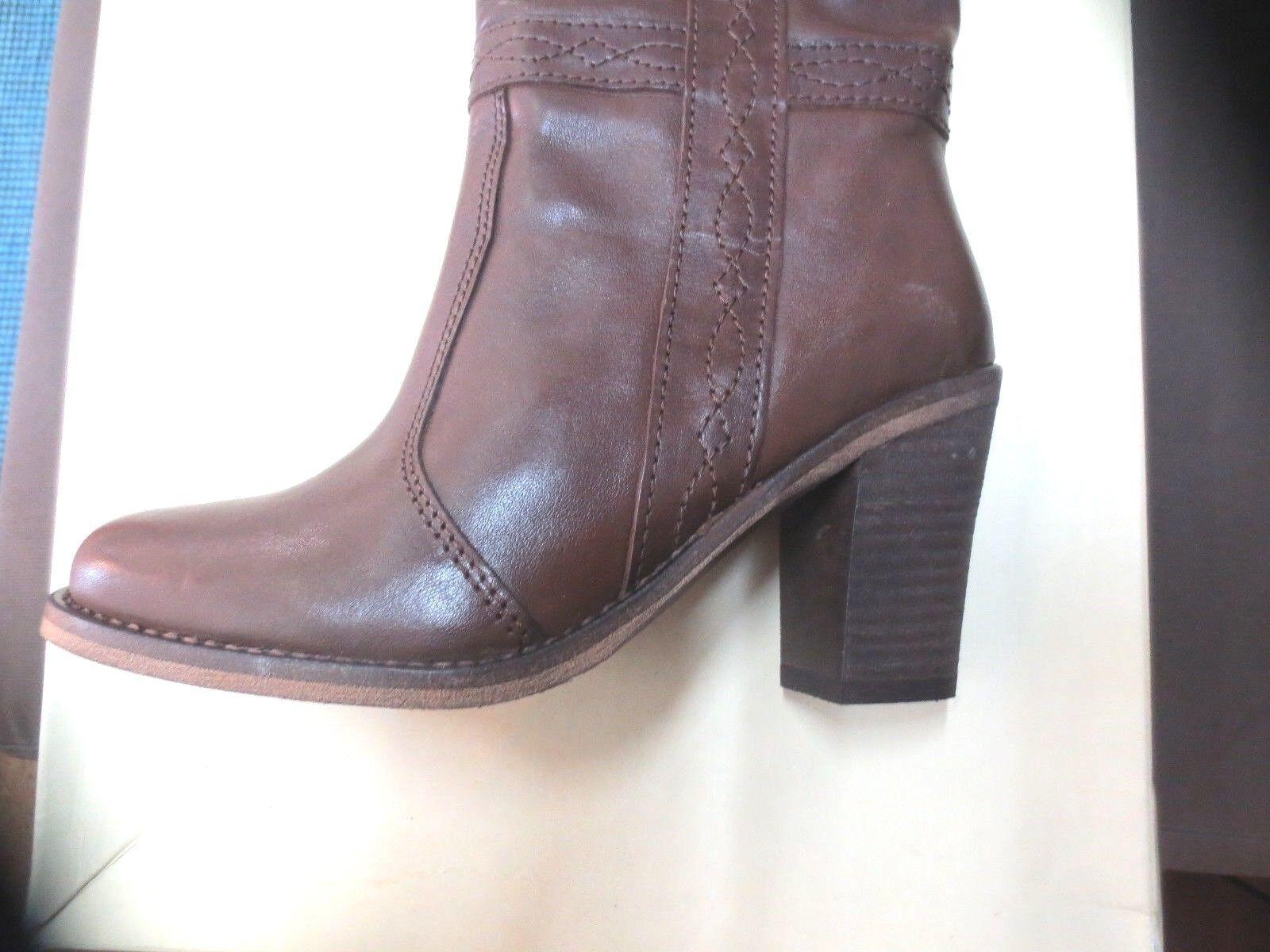Minka Design Stiefel Leder braun zum Hineinschlüpfen Hineinschlüpfen Hineinschlüpfen Wert 185E Schuhgrößen 35,36 980ccf