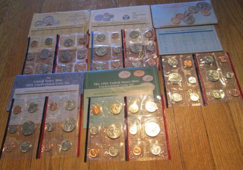 69 70 73 75 79 81 84 88 90 Mint Set COA 25 Set 1968-1994 US Mint Mint sets