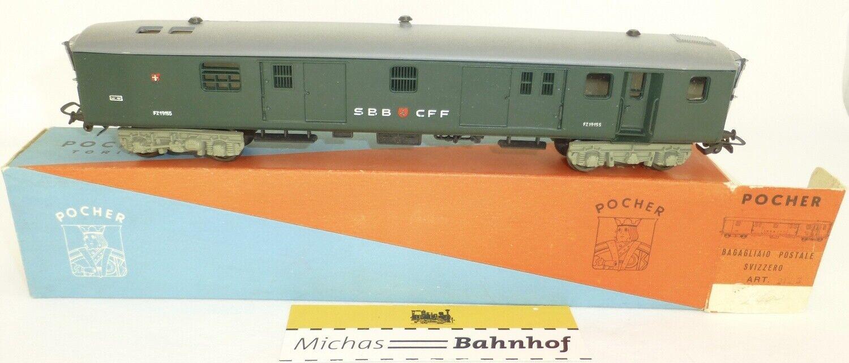 Post Cochero para el equipaje bagagliaio Postale svizzero Pocher 212 h0 1 87 hs2 OVP Å