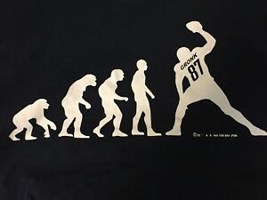 Details About Gronk Evolution New England Patriots Rob Gronkowski Blue T Shirt Size Xl