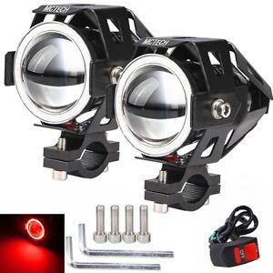 2x motorrad led cree u7 lampe licht zusatzscheinwerfer. Black Bedroom Furniture Sets. Home Design Ideas