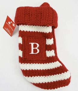 Letter N Knit Monogram Mini Stocking Red Wondershop Xmas Holiday Target 7/""