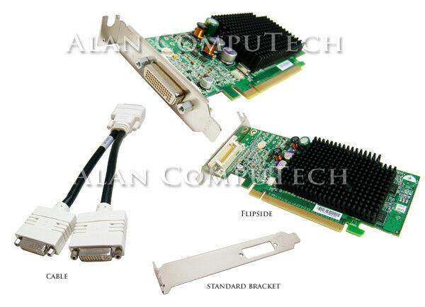Dell ATi Radeon X600 Pro 256MB PCIE Video Card G9184 Standard & Low Pro Bracket