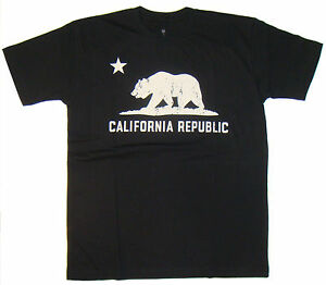 California-Republic-Black-Cotton-T-shirt-T-Shirts-Shirt-Shirts-4-Sizes-Available