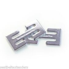 2 Seat Belt Adjuster Safety Clips - Moves the seat belt off your neck instantly!
