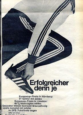 Adidas Erfolgreicher denn je Großformat Werbung von 1967 | eBay