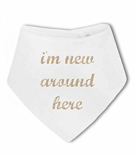 unisex Soy nuevo aquí Lindo neutral Recién Nacido Pañuelo Bebé Babero por BWW P...