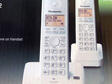 Panasonic KX-TG2712 DECT 6.0 Digital Cordless Phone (2 Handsets) [White]