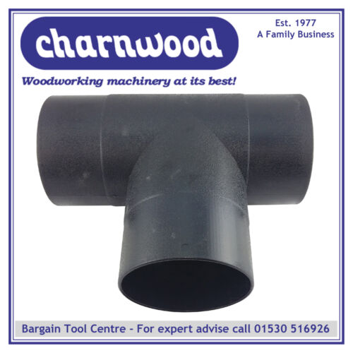 Outlets For Dust Extraction CHARNWOOD 125T T Piece with 3 x 125mm 5/""