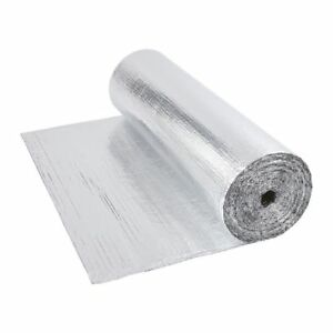 Double Aluminium Single Layer Bubble Wrap Foil Insulation 1.2m x 40m Loft Floor 5051752349188