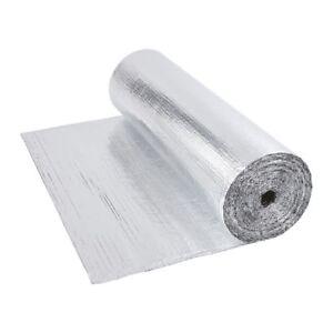 Double Aluminium Single Layer Bubble Wrap Foil Insulation 1.2m x 40m Loft Floor 5051752349188
