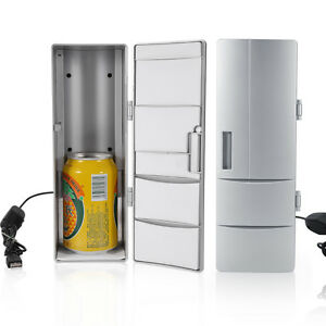 USB-Mini-Bar-Fridge-Home-Camping-Caravan-Drink-Beer-Food-Refrigerator-Cooler-TP