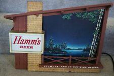 HAMMS BEER STARRY SKIES LIGHT UP MOTION SIGN VINTAGE 1960s PILSNER GLASS VERSION