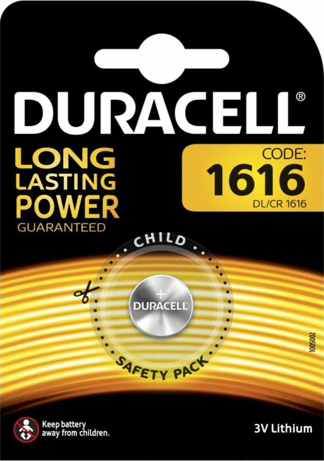 10x Duracell Lithium 3V Cell 1er Blister CR1616 Button Cell Lithium Coin DL1616