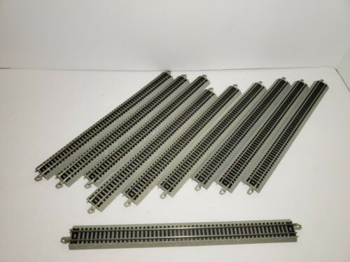 """10 Bachmann EZ Track Lot of Pieces of 10/"""" Straight Track l2 N Scale"""