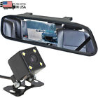 4.3'' TFT Car Mirror Monitor Front Rear Side View Backup Camera Parking System