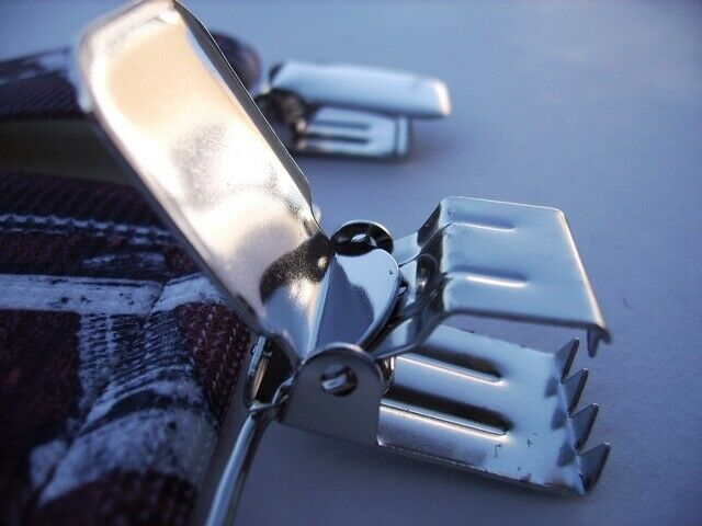 12 Stainless Steel Industrial Strong Clips. NO SLIPPING OFF WAISTBAND OF PANTS.