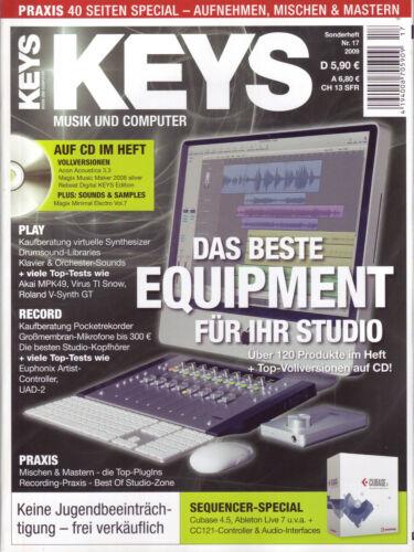 Keys Sonderheft mit Vollversion auf Heft CD Magix Music Silver Acon Acoustica