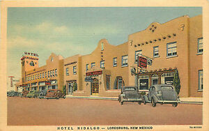 Image Is Loading Lordsburg Nm Hotel Hidalgo 1949 Linen P C