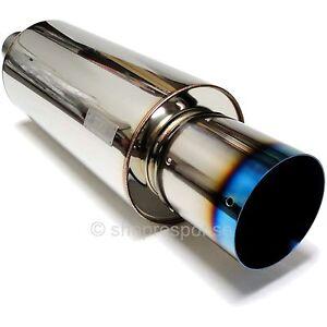 Details about HKS Hi-Power Titan-TP Universal Muffler Exhaust Turbo 75mm /  3