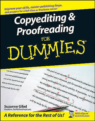 1 of 1 - Copyediting & Proofreading for Dummies by Suzanne Gilad (Paperback, 2007)