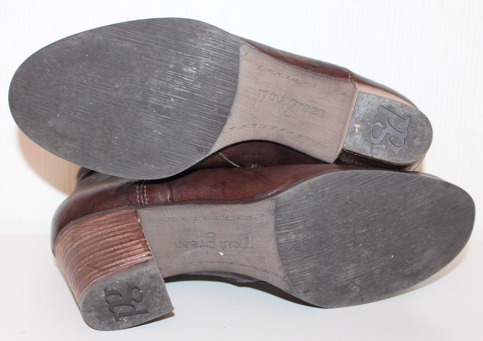 PAUL GREEN Stiefeletten ANKLE Stiefel 38 Chelsea Schuhe UK5 LEDER Pistol Chelsea 38 BOOTIES 1a40dc