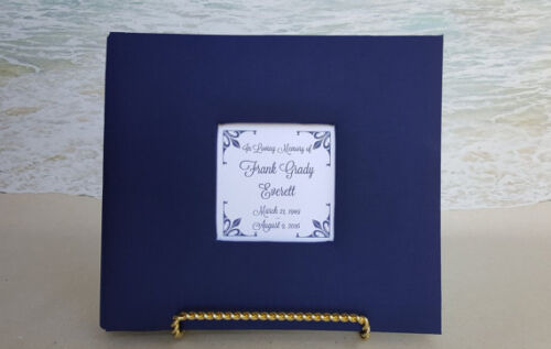 Memorial Service Wake Guestbook Sign Choice of Color Custom Funeral Guest Book