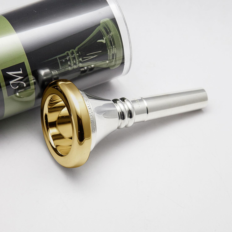 Genuine Marcinkiewicz W2 24K gold Rim & Cup Tuba Sousaphone Mouthpiece NEW