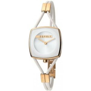 Esprit-ES1L016L0045-Watch-Womens-White-Narrow-Leather-Strap-Rosegold-Case