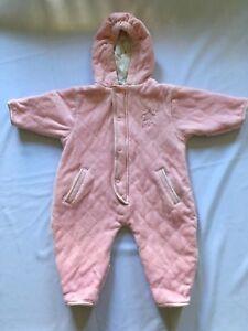 Baby & Toddler Clothing Energetic Lullaby Club Girls Playwear Fleece Snowsuit Size 3/6 Months Girls' Clothing (newborn-5t)
