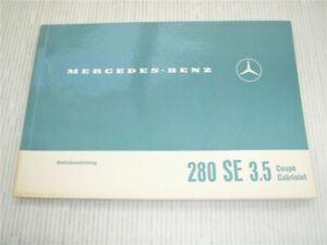 Mercedes-Benz-280-SE-3-5-Coupe-Cabriolet-Betriebsanleitung-W111