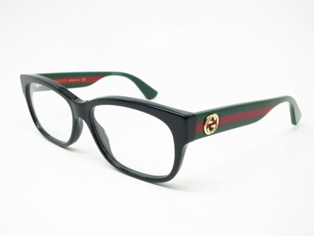 2607923f6413 Gucci Gg0278o 011 Black Red Green 55mm RX Eyeglasses Frames Authentic