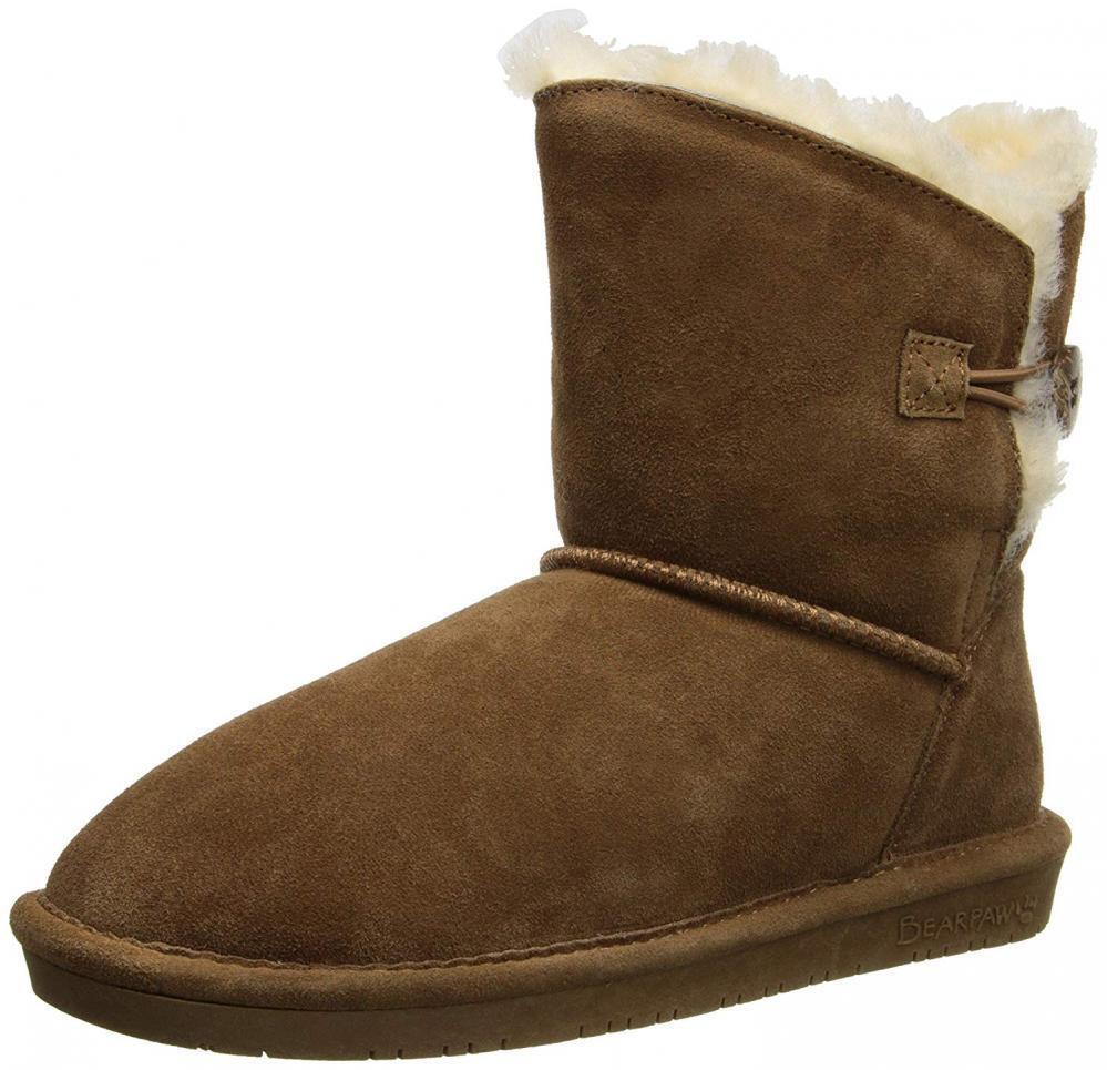 BEARPAW Women's Rosie Winter Boot Boot Boot Suede Sheepskin Fur Snow Rain Comfy Comfort d3365c