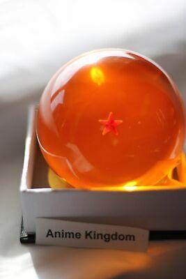 "USA Seller Cosplay DBZ Crystal Resin 3/"" Large 3D Dragon Ball 2 Stars with Box"