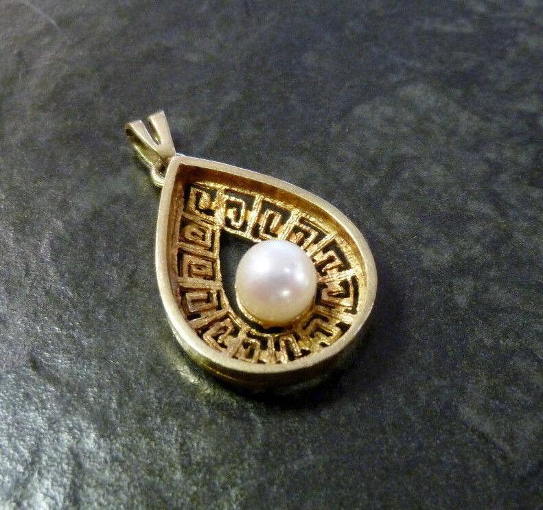 goldanhänger Perlenanhänger Friedrich Speidel 333er gold Perle Anhänger 8 Karat