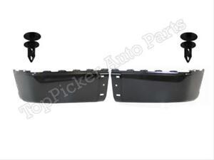 Rear Bumper Cap//End Black Retainer Clip W// Sensor Hole For 2007-2013 Silverado