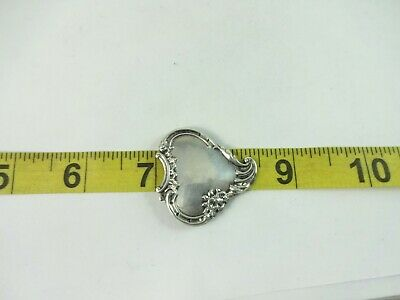 Precious Metal Without Stones Sterling Silver Nice Design Heart Pin 6.2g Good Companions For Children As Well As Adults Jewelry & Watches