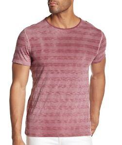 John-Varvatos-Star-USA-Men-039-s-Short-Sleeve-Variegated-Crew-T-Shirt-Cranberry