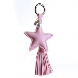 Key-Chain-Fob-Phone-Purse-Charm-Tassel-Dangle-Stars-Fake-Pearl-Beads-G