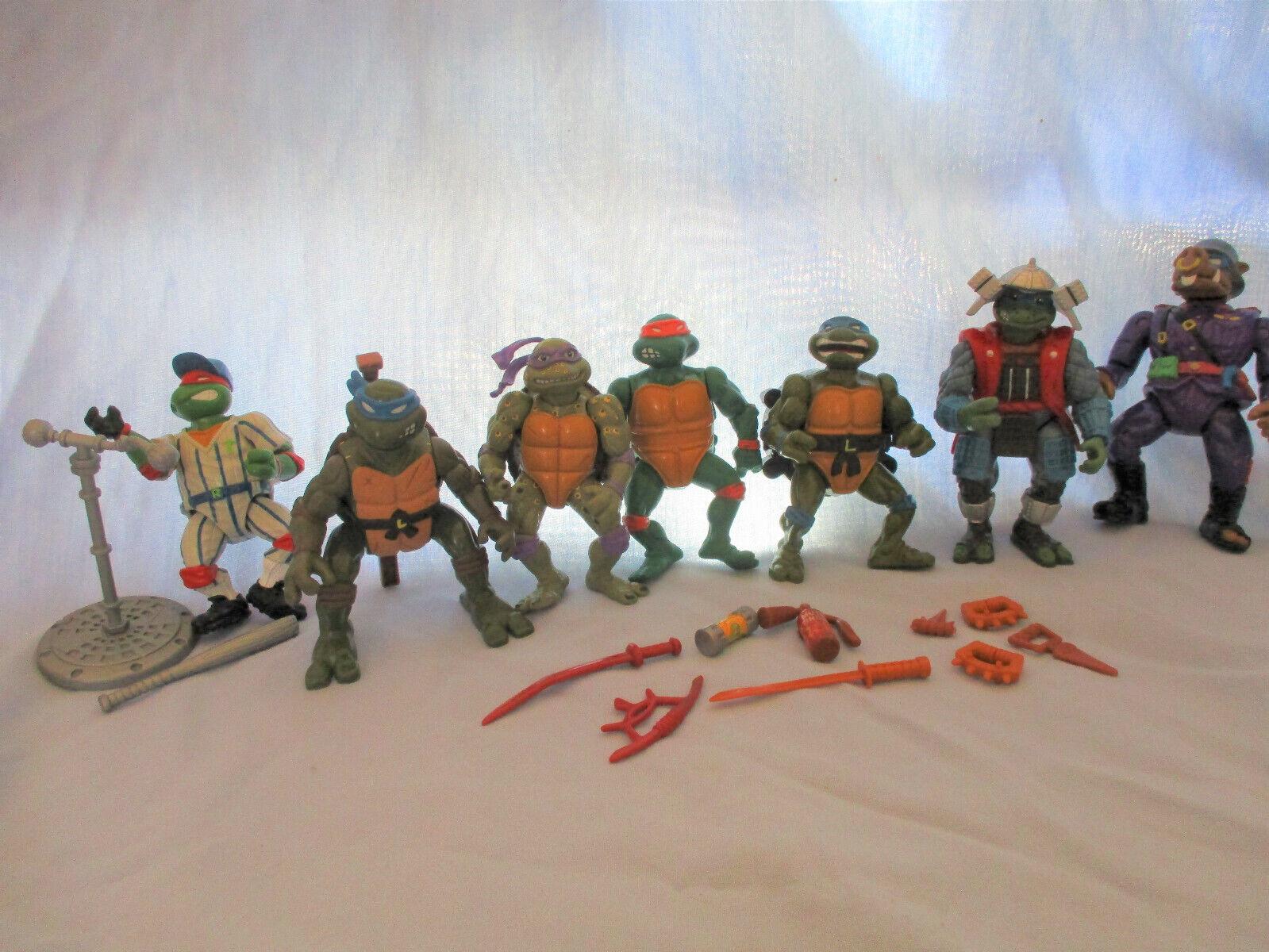 Teenage Mutant Ninja Turtles Lot-Vintage Lot-Vintage Lot-Vintage Figures 1988-1993 6ab18a