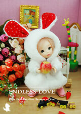 Rabbit Pajamas Animal Clothes For BJD Doll 1/8, 1/12 Pukifee ae/dz Pukipuki AL9