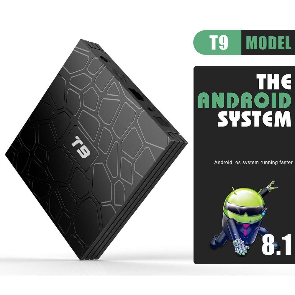 T9 Android 8.1 TV Box RK3328 Quad Core 4GB-RAM 4K Set Top Box HD Media Player