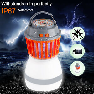 Electric-Bug-Mosquito-Killer-Zapper-Camping-Lantern-Solar-LED-Rechargeable-Light