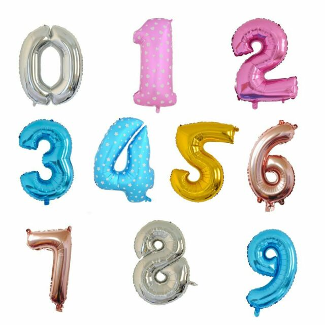 40 Foil Number Balloon Birthday Party Decorations Kids Party