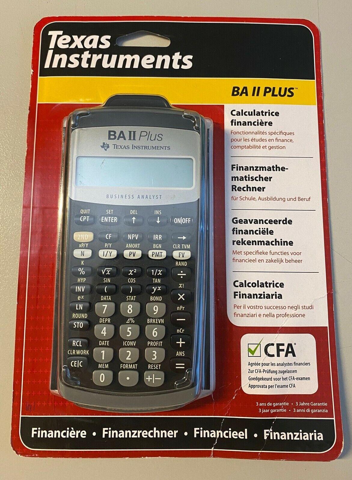 TEXAS INSTRUMENTS Finanzrechner TI-BA II Plus