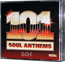 101 Soul Anthems 5 CD Of Music Songs 60s 70s 80s Tracks Original Recordings