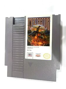 Infiltrator ORIGINAL NINTENDO NES GAME CARTRIDGE Tested + Working & Authentic!
