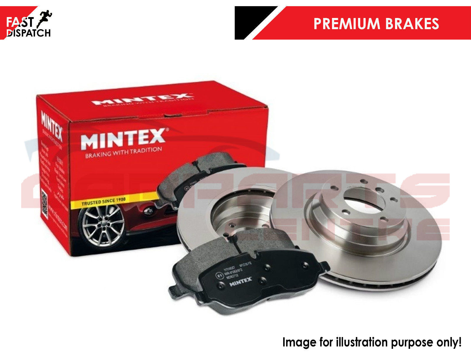 MINTEX REAR DISCS AND PADS 302mm FOR MAZDA 5 1.8 2005